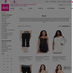 shop plus size fashion at debshops.com