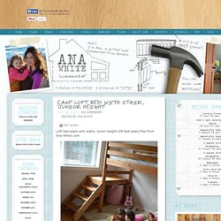 Build a Camp Loft Bed with Stair, Junior Height