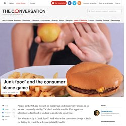 """Obesity, junk food, """"bliss point"""" and aggressive marketing"""