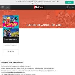 Juntos 1re année (2013) - Site compagnon