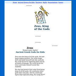 Zeus & Jupiter - Ancient Greek & Roman Gods for Kids