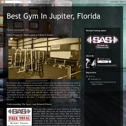 Sports Fitness for Healthy Mind and Body In Jupiter