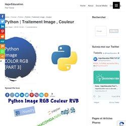 Python Image RGB Jupyter Notebook & MATPLOTLIB & PIL & NUMPY