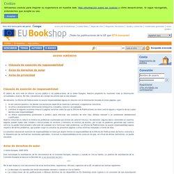 Aviso jurídico - Página principal - EU Bookshop