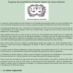 Esquisse de la juridiction d'ancien régime sur le territoire actuel des Côtes d'Armor
