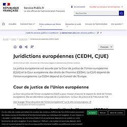 Les juridictions européennes