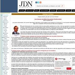 Rubrique juridique : Les clauses sensibles des pactes d'actionnaires
