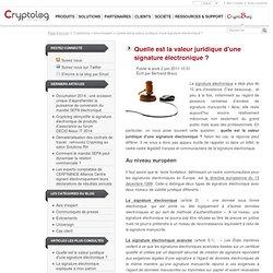 Quelle est la valeur juridique d'une signature électronique? - Cryptoblog [FR]