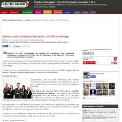 Nouveau statut juridique d'entreprise : la SCOP d'amorçage