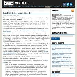 Jihad juridique, nouvel épisode – Raison et laïcité – Daniel Baril
