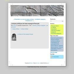 Lexique juridique de base espagnol-français - IniTerm.net
