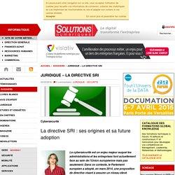 JURIDIQUE – La directive SRI