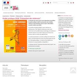 Guide juridique Ministère des sports : Prévention des violences