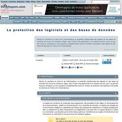 Article juridique : La protection des logiciels et des bases de données