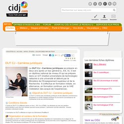 DUT CJ - Carrières juridiques : programme, options, écoles, alternance, débouchés