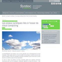Les enjeux juridiques liés à l'essor du cloud computing