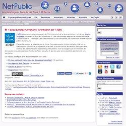 4 quizz juridiques Droit de l'information par l'ADBS