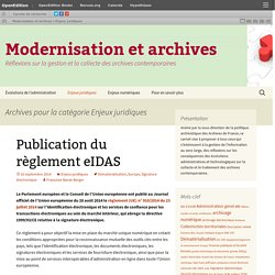 Modernisation et archives