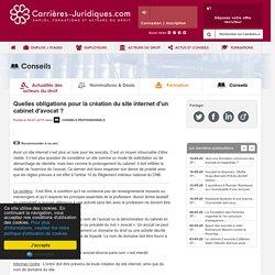 Carrières-Juridiques.com - Quelles obligations pour la création du site internet d'un cabinet d'avocat ?
