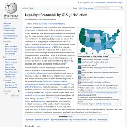 Legality of cannabis by U.S. jurisdiction
