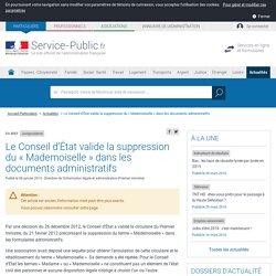Jurisprudence -Le Conseil d'État valide la suppression du «Mademoiselle» dans les documents administratifs