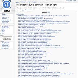 Jurisprudence sur la communication en ligne