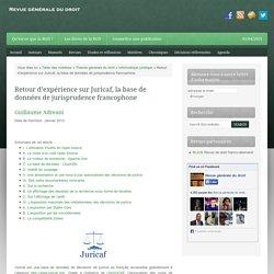 Retour d'expérience sur Juricaf, la base de données de jurisprudence francophone —