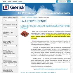JURISPRUDENCE DE LA FAUTE INEXCUSABLE DE L'EMPLOYEUR