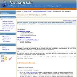 Jurisprudence en ligne : panorama