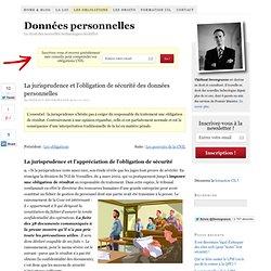 La jurisprudence et l'obligation de sécurité des données personnelles