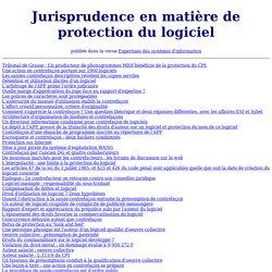 Jurisprudence en matière de protection du logiciel