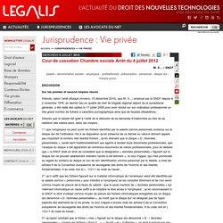 Bts sio veille juridique pearltrees - Jurisprudence cour de cassation chambre sociale ...