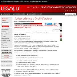 Tribunal de grande instance de Marseille, 1ère chambre civile, jugement du 4 juin 2015