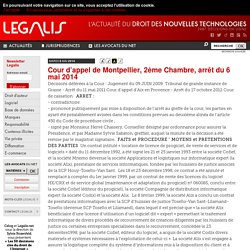 Cour d'appel de Montpellier, 2ème Chambre, arrêt du 6 mai 2014