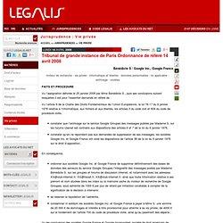 Tribunal de grande instance de Paris Ordonnance de référé 14 avril 2008