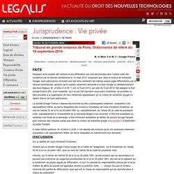 Tribunal de grande instance de Paris, Ordonnance de référé du 16 septembre 2014