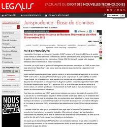 Tribunal de grande instance de Nanterre Ordonnance de référé 30 novembre 2012