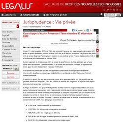 Cour d'appel d'Aix en Provence 17ème chambre 17 décembre 2002