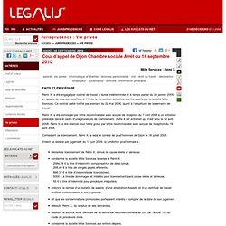 Cour d'appel de Dijon Chambre sociale Arrêt du 14 septembre 2010