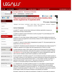 Tribunal de grande instance tgi pearltrees for Chambre 13 tribunal bobigny