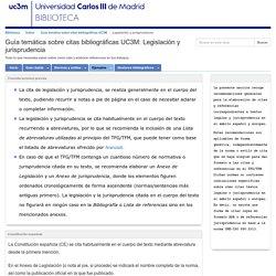 Legislación y jurisprudencia - Guía temática sobre citas bibliográficas UC3M - Índice at Universidad Carlos III de Madrid