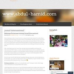 jurnal internasional « www.abdul-hamid.com