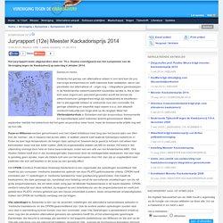 Juryrapport (12e) Meester Kackadorisprijs 2014