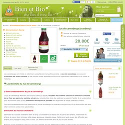 Jus de canneberges contre les infections
