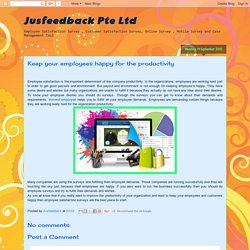 Jusfeedback Pte Ltd: Keep your employees happy for the productivity