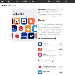 Just Ask Siri : App Store Story