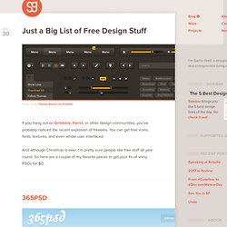 Just a Big List of Free Design Stuff