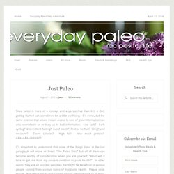 Just Paleo
