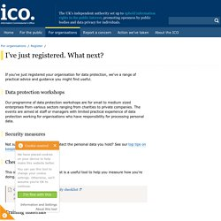 I've just registered. What next?