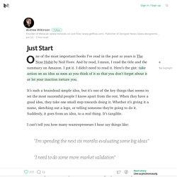 Just Start – Medium